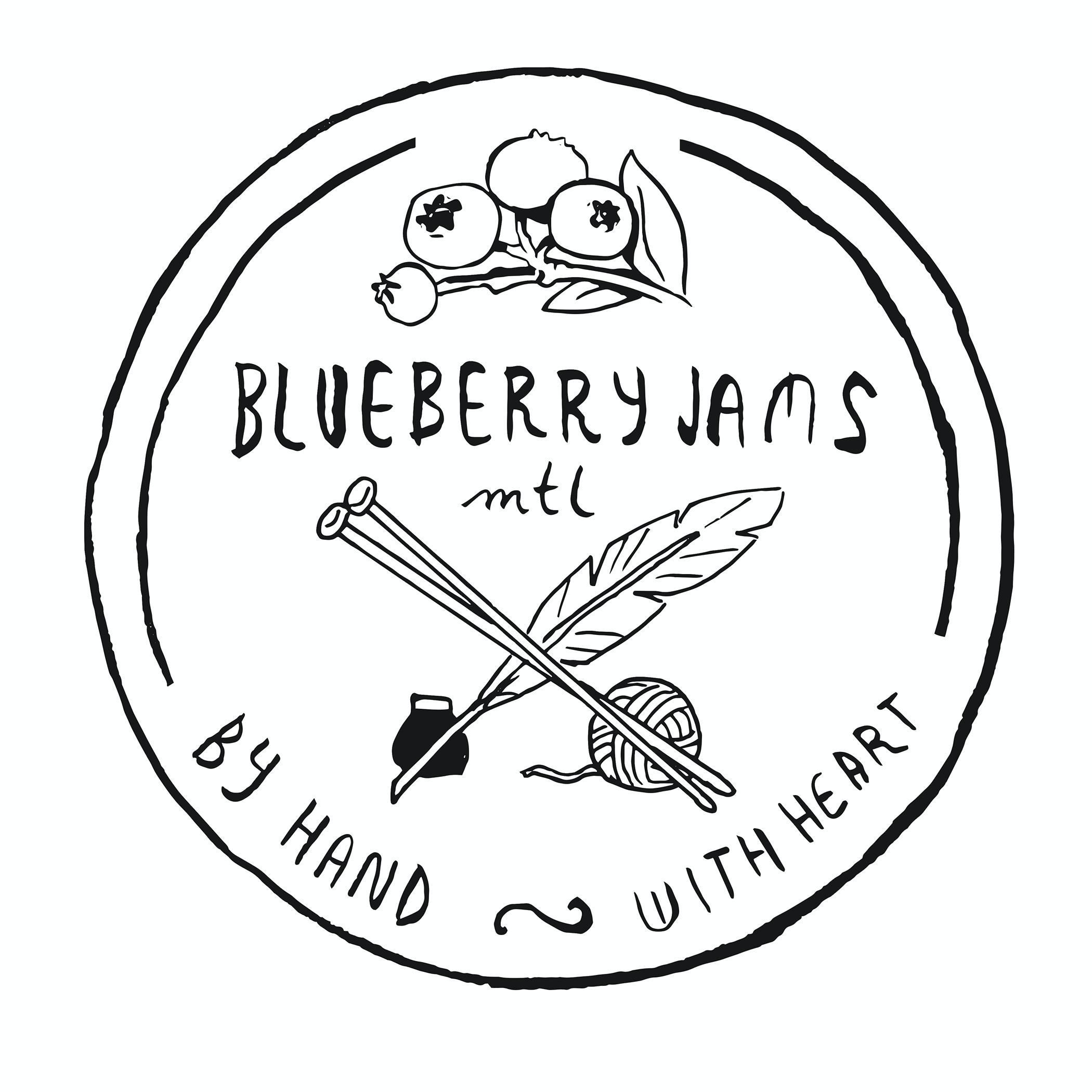 Blueberry Jams Montreal Logo