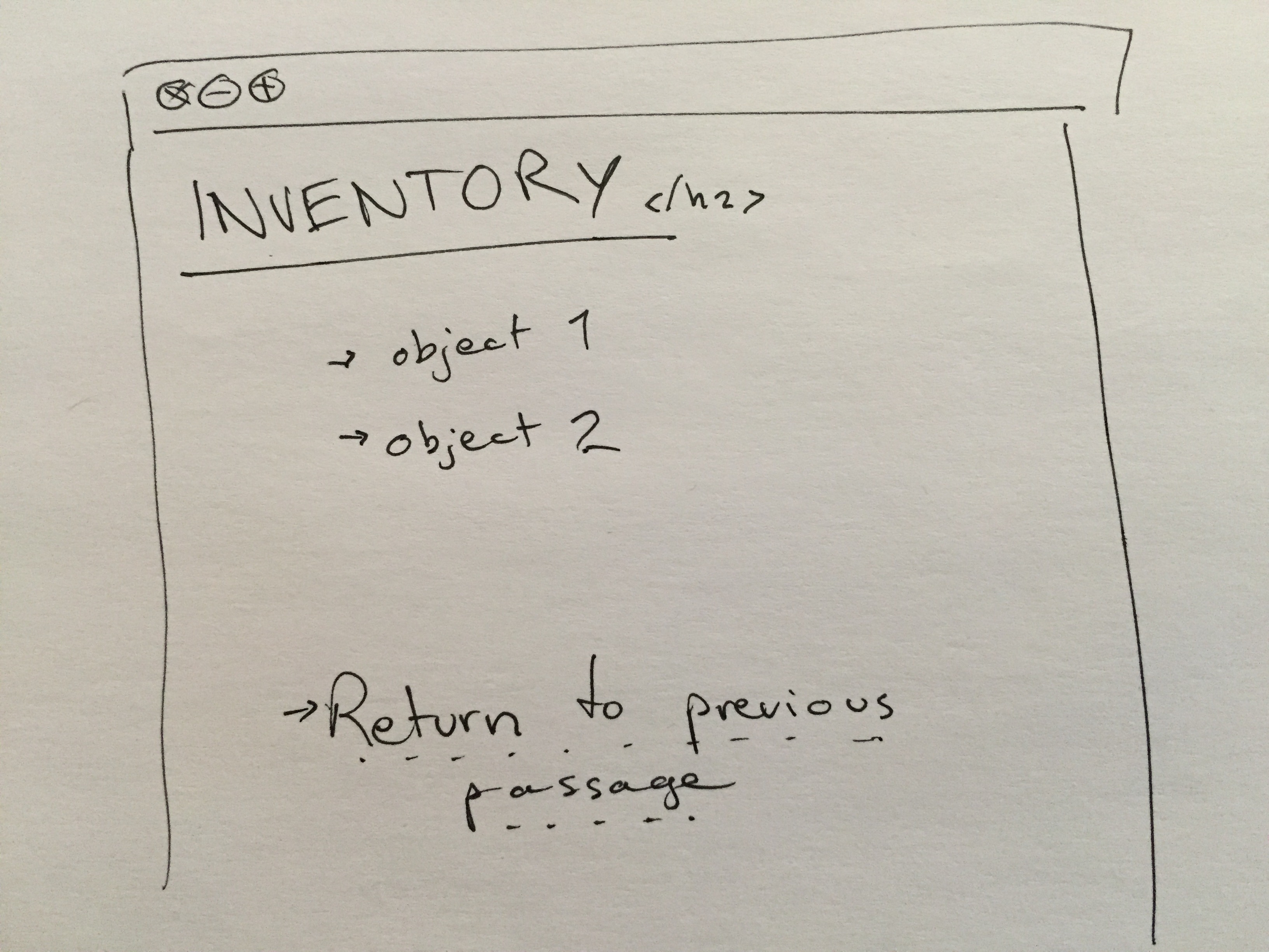 Building an inventory in Twine 2 with the built-in Harlowe