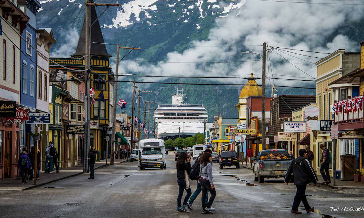 A photo by Ted McGrath of Skagway, Alaska.
