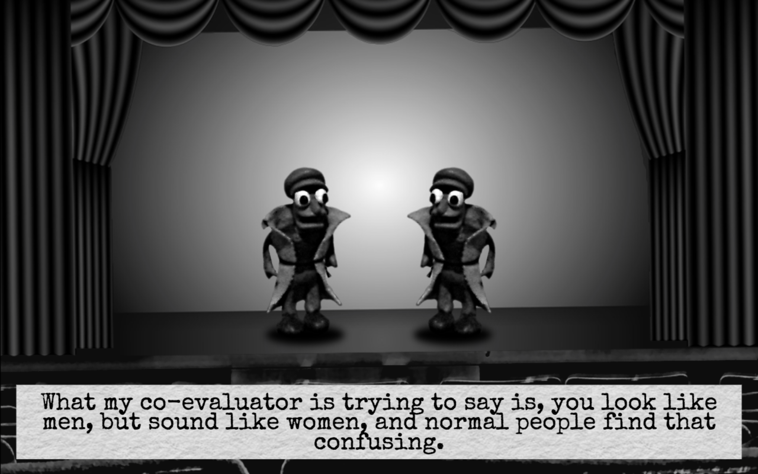 A screenshot from a scene from Dominique Pamplemousse 2.