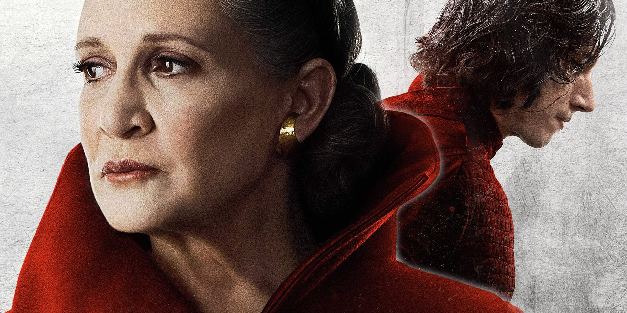 Promotional image of Leia and Kylo Ren from The Last Jedi.