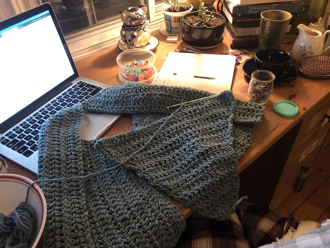 Journal de projet: cape au crochet