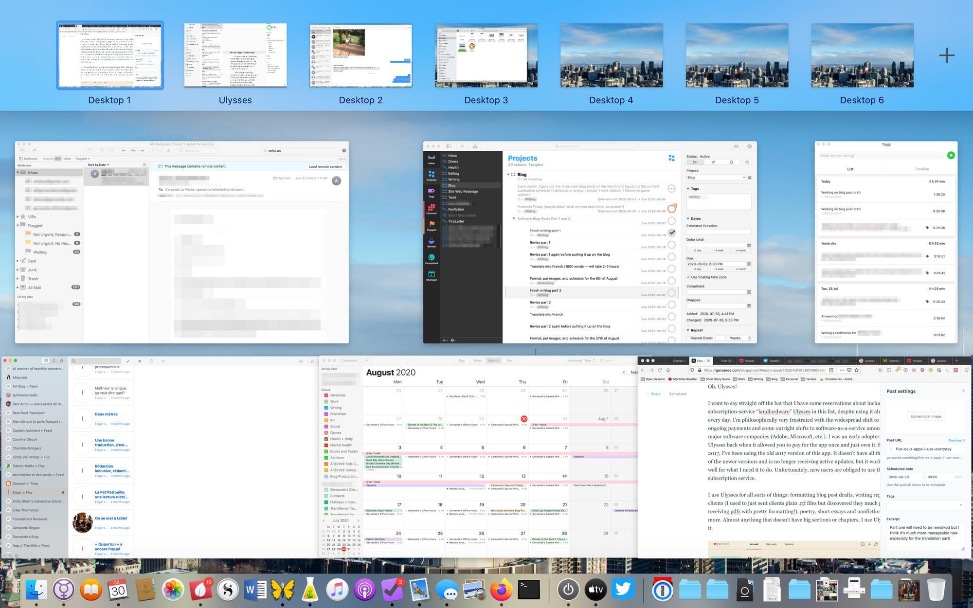 Cinq logiciels OS X pour l'écriture et la productivité que j'utilise chaque jour