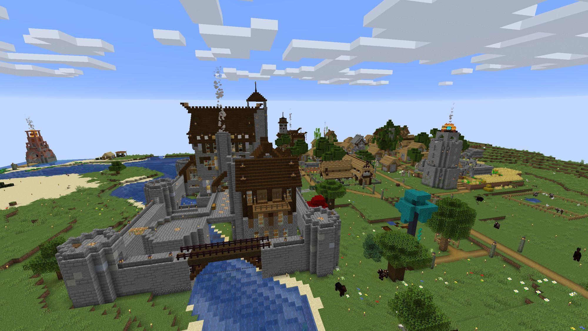 Une deuxième capture d'écran de mon server Minecraft.